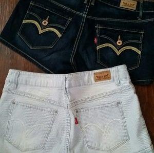 Bundle of 2 Levi Jean Shorts
